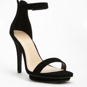 Faux Suede Ankle-Strap Platform Sandals